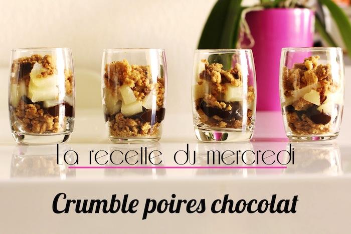 La recette du mercredi #5 : Crumble poires chocolat