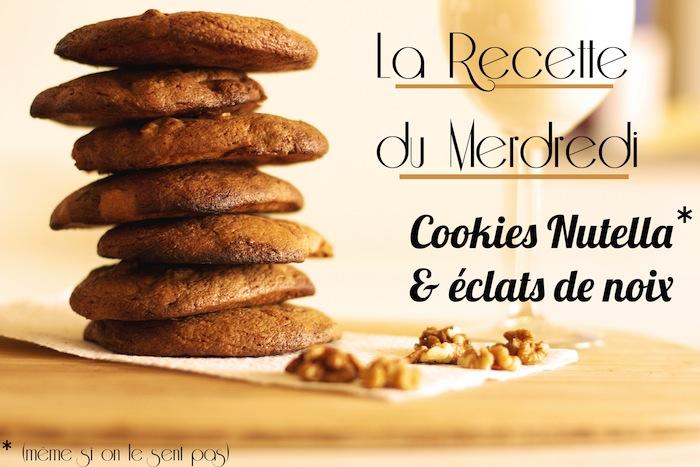 La recette du mercredi #7: cookies au Nutella et éclats de noix