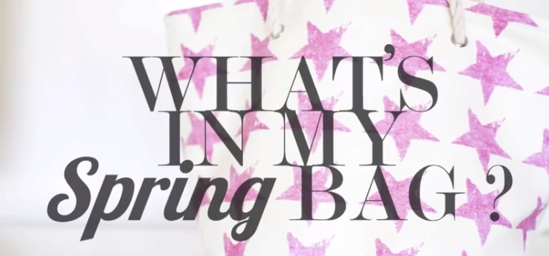 What's in my spring bag?