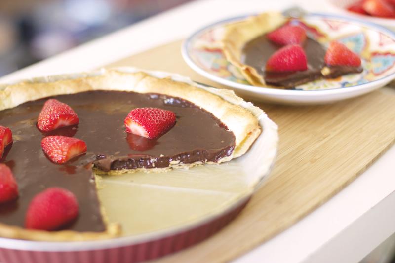 tarte chocolat fraises