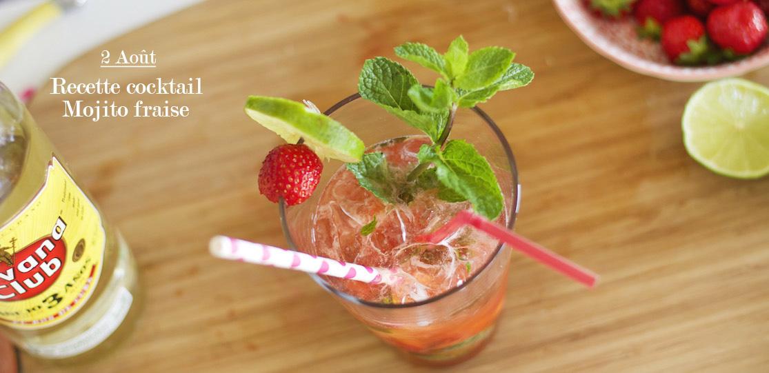 Recette cocktail #4 : mojito fraise