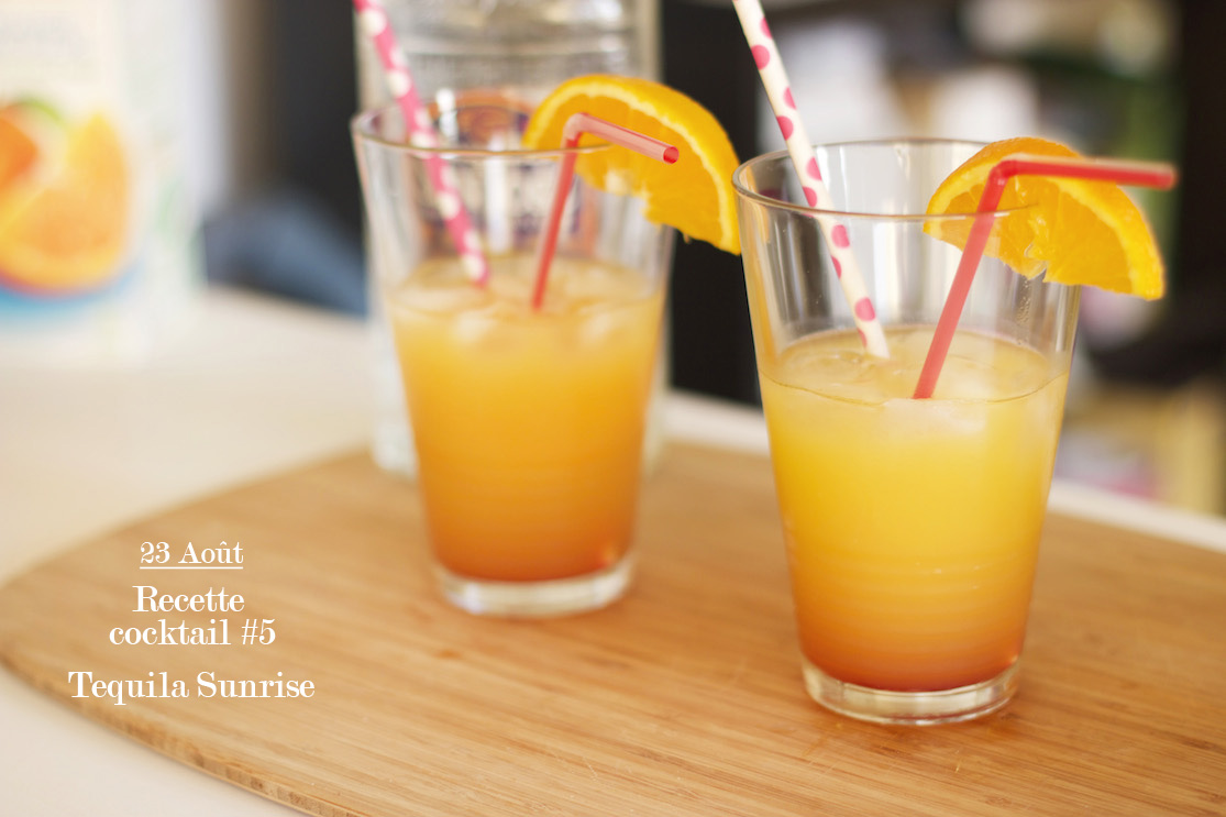 Recette cocktail #5 : Tequila sunrise