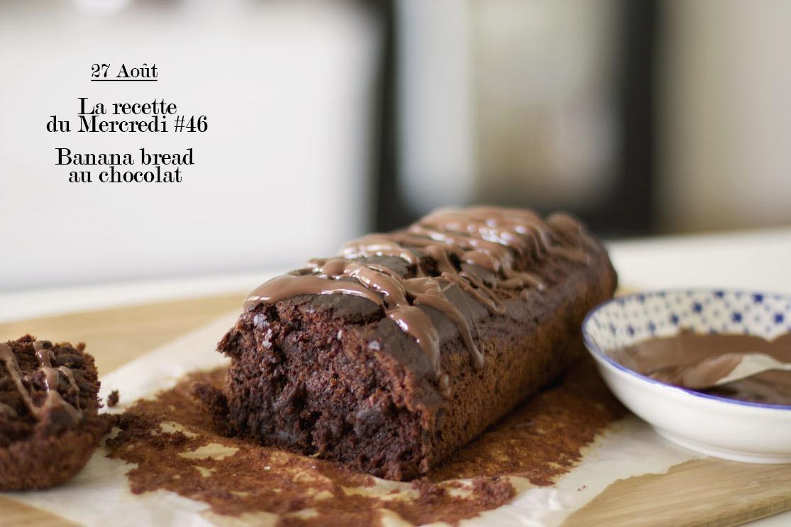 La recette du mercredi #46 : Banana bread au chocolat