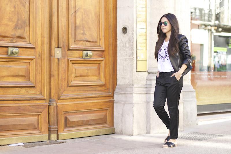 pantalon noir ikks