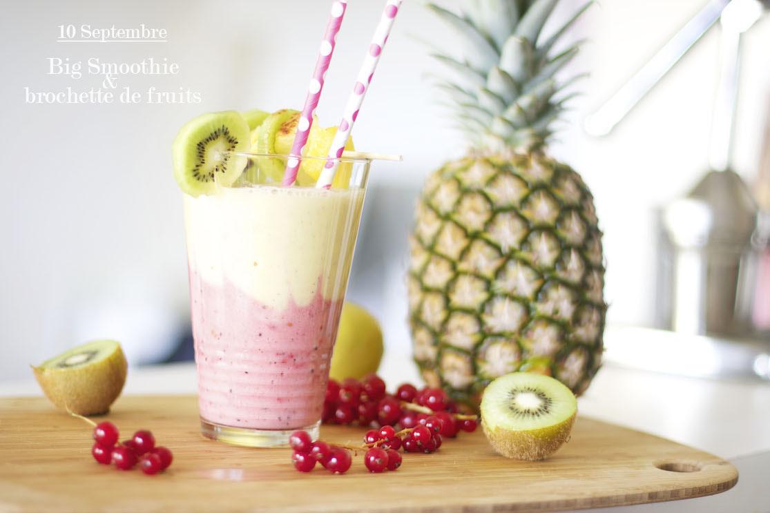 La recette du mercredi #48 Big smoothie et brochette de fruits