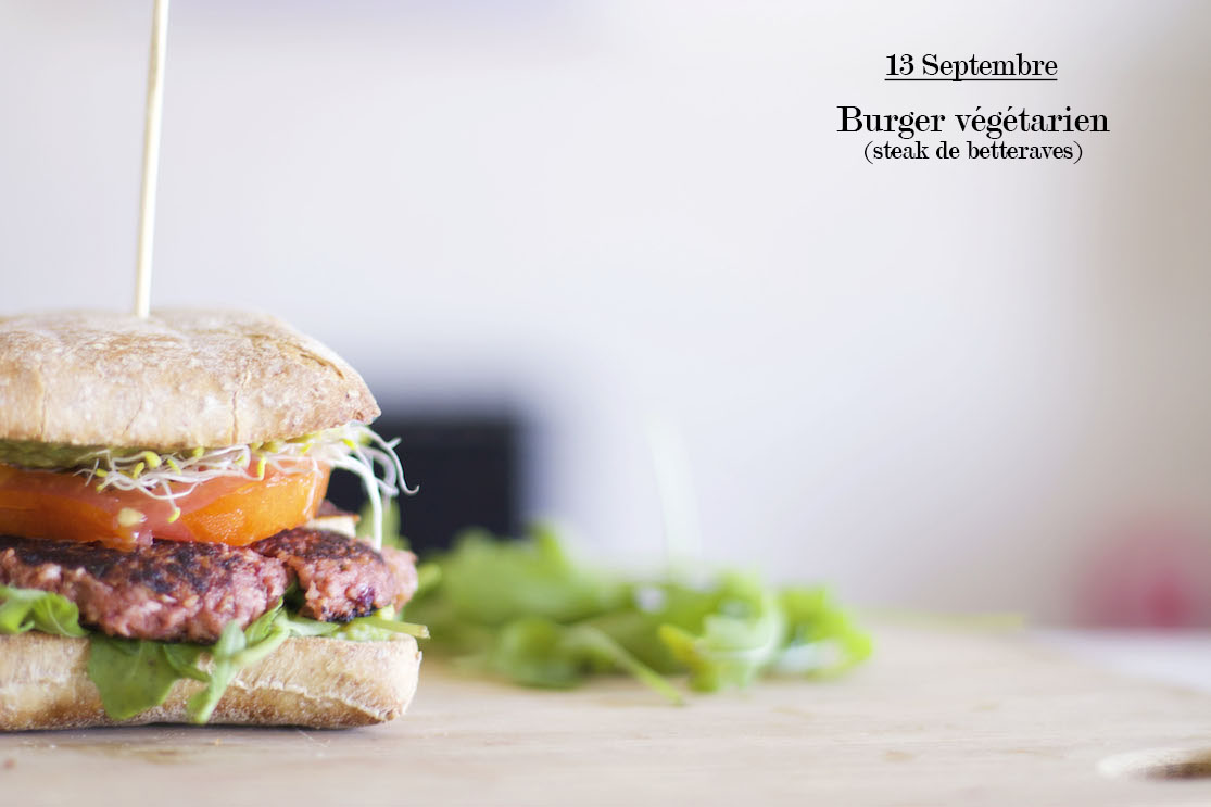 Burger végétarien (steak de betteraves)