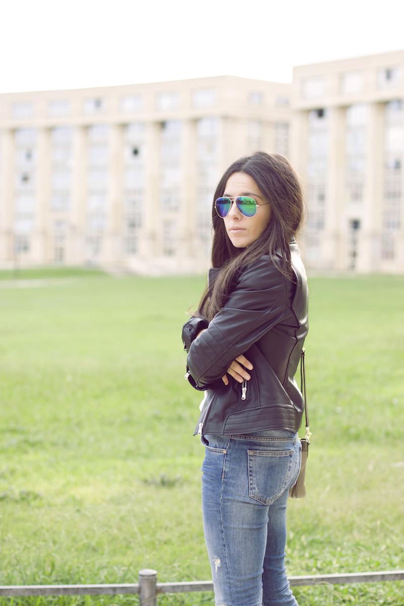 veste en cuir blog mode