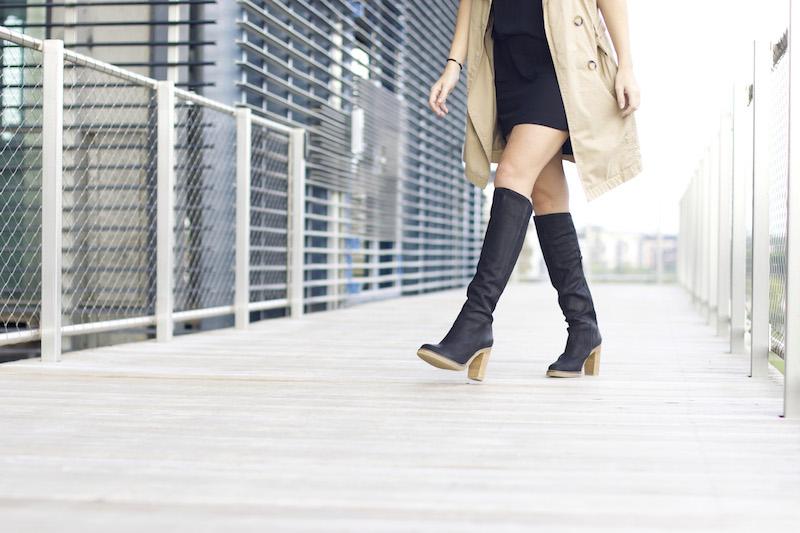bottes noires à talons