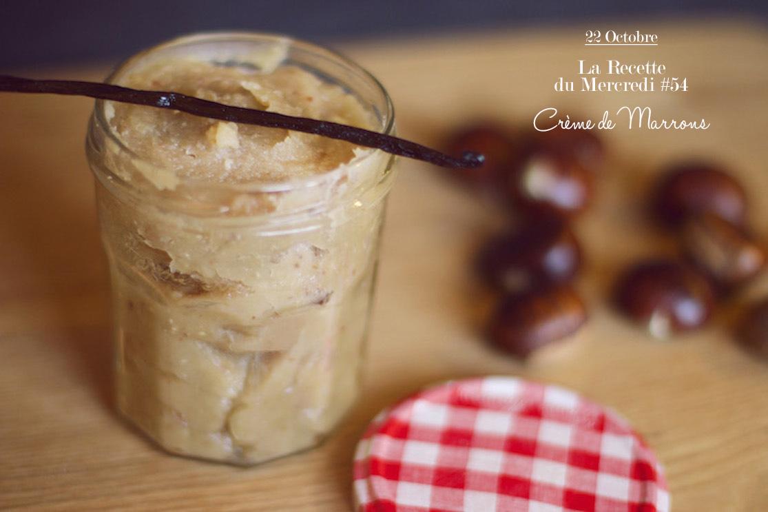 La Recette du Mercredi #54 : Crème de marrons