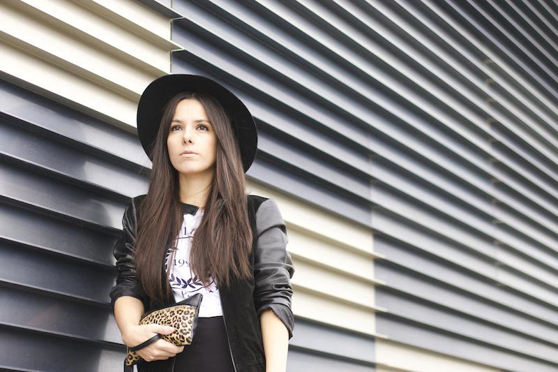 chapeau noir mode