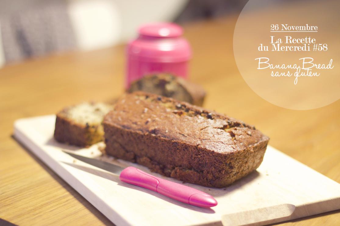 La Recette du Mercredi #58 : Banana bread sans gluten