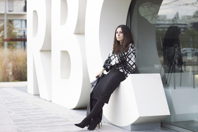 jupe genoux noire