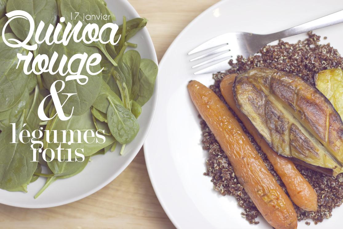 Recette quinoa rouge et légumes rôtis
