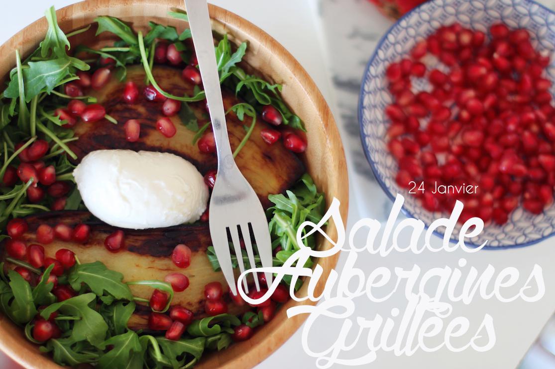 Salade aubergines grillées