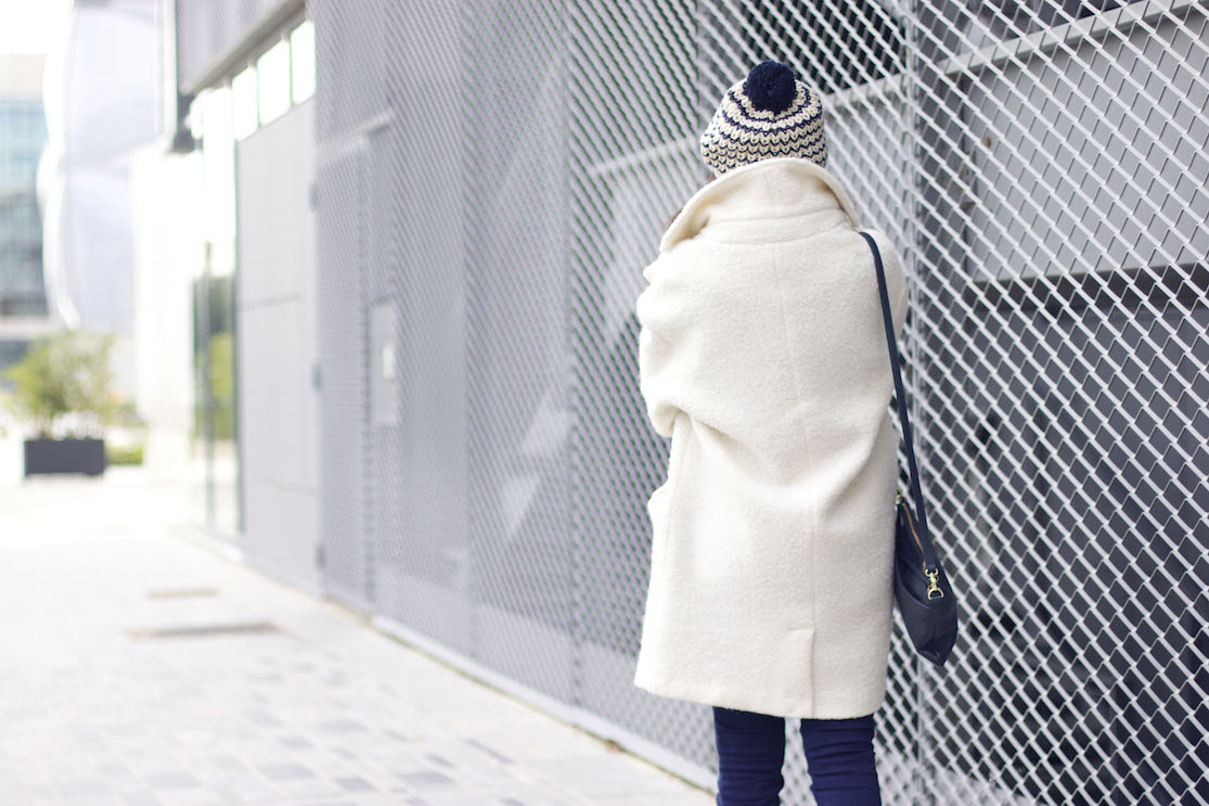 manteau blanc look