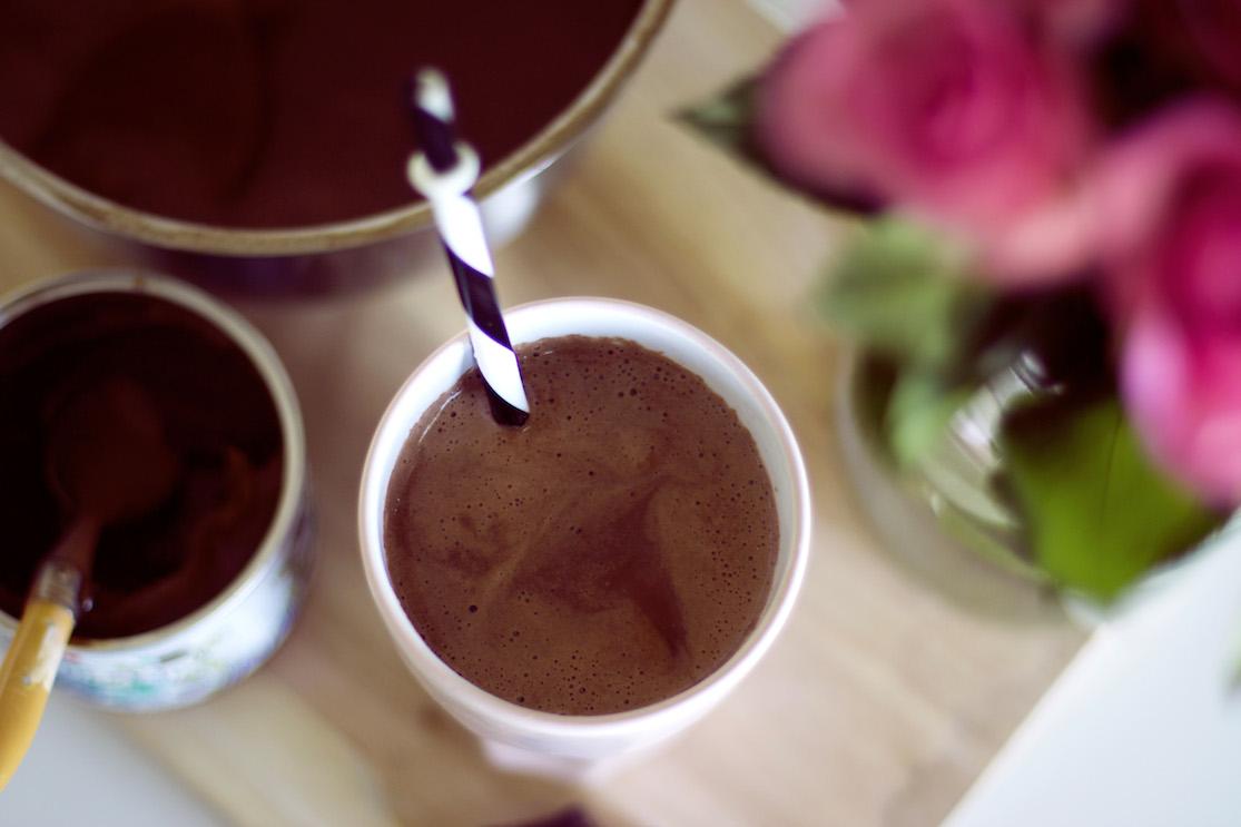 chocolat chaud crème de marrons amandes