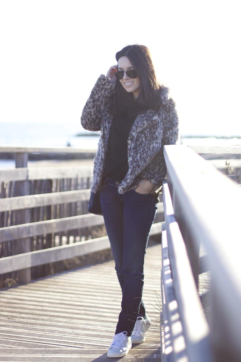 look veste léopard