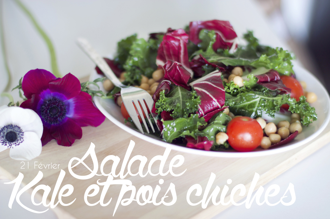 Salade kale et pois chiches