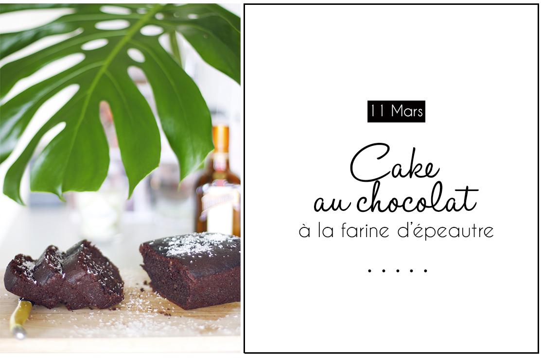 Cake chocolat à la farine d'épeautre