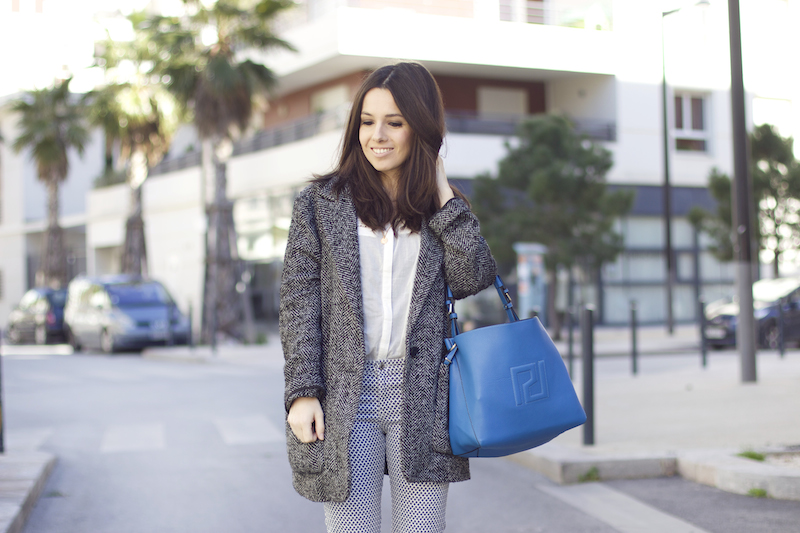 manteau gris loose