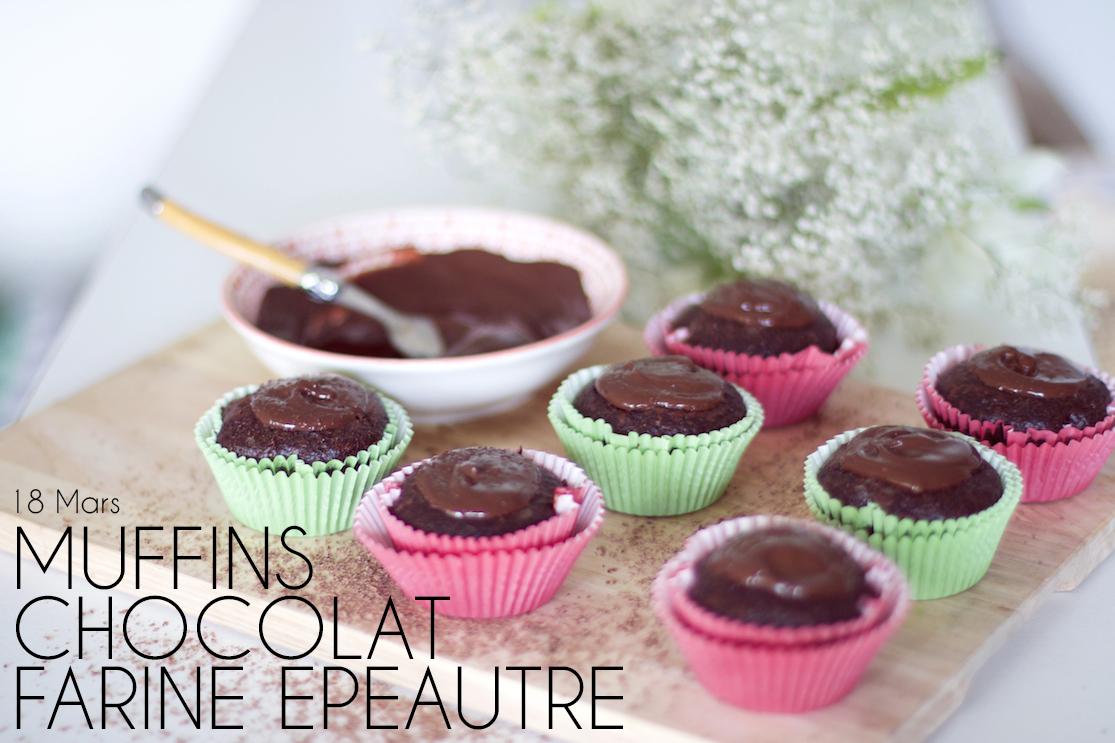 Muffins chocolat farine d'épeautre