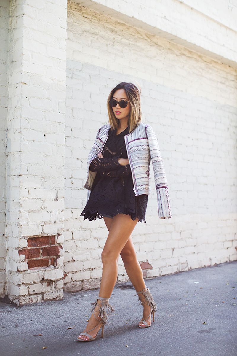 aimee_song_black_eyelet_dress_schutz_fringe_heels