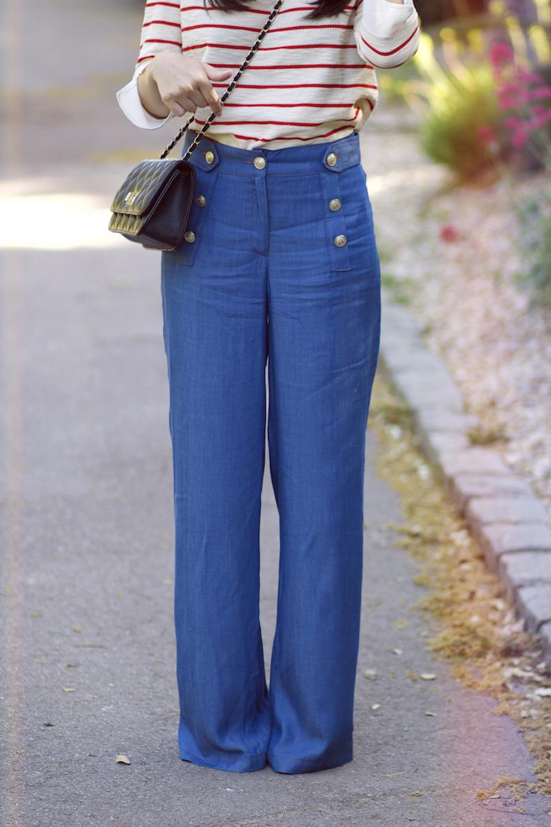 pantalon large la petite française