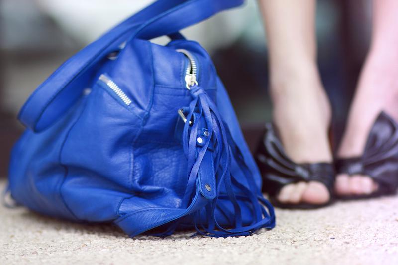 sac bleu pieces