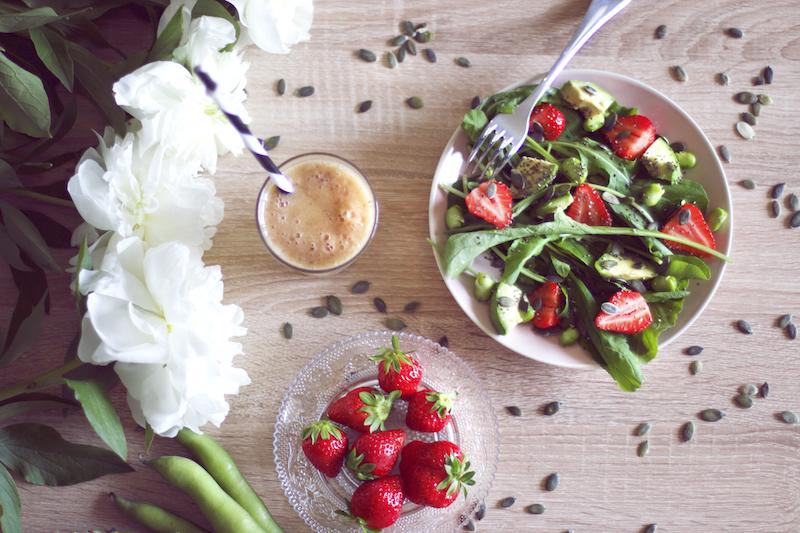 salade fraises roquette