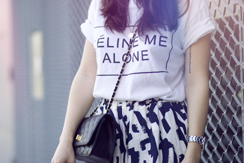 t-shirt celine me alone