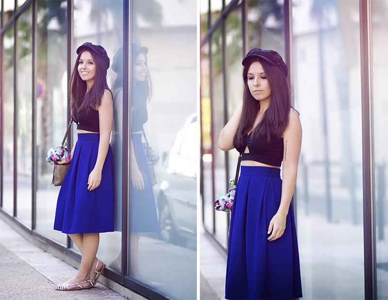 look jupe bleue