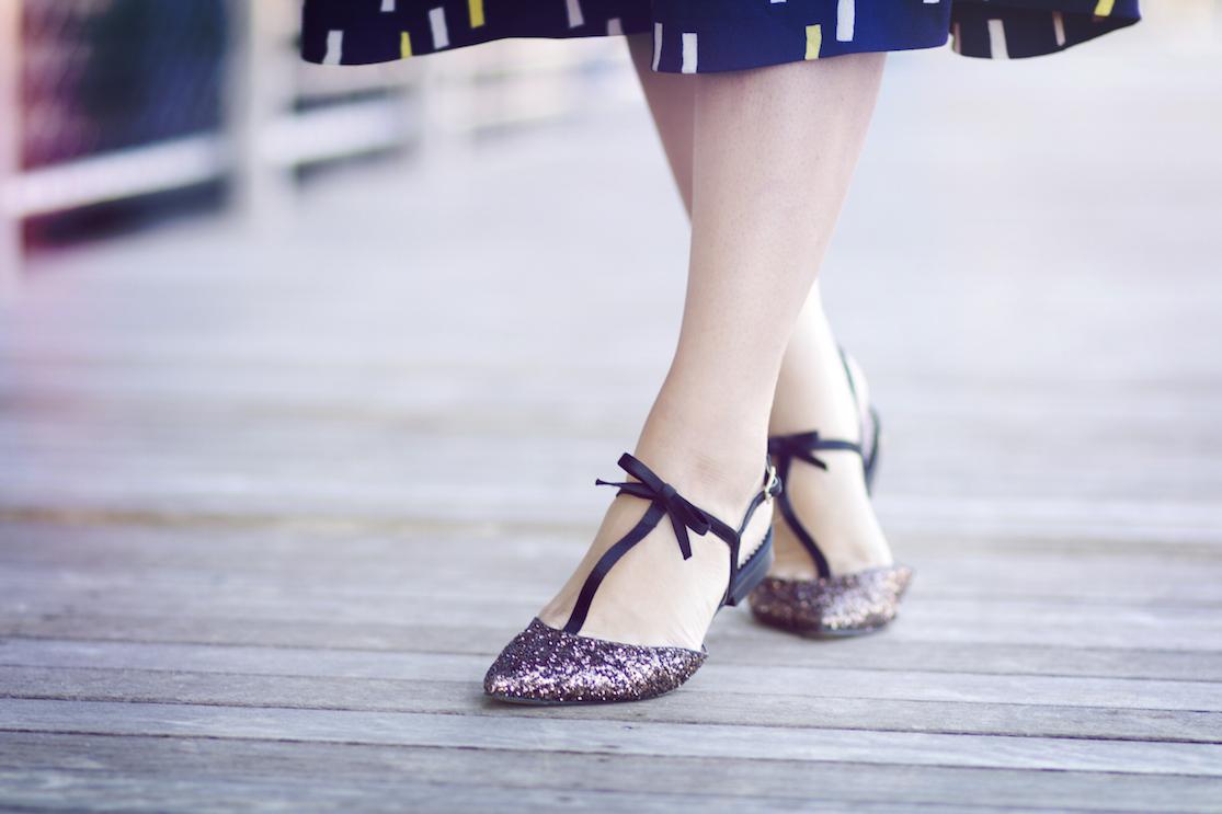chaussures paillettes boden