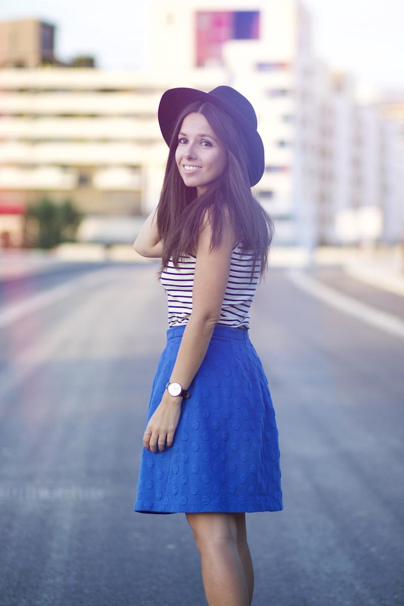 jupe bleue