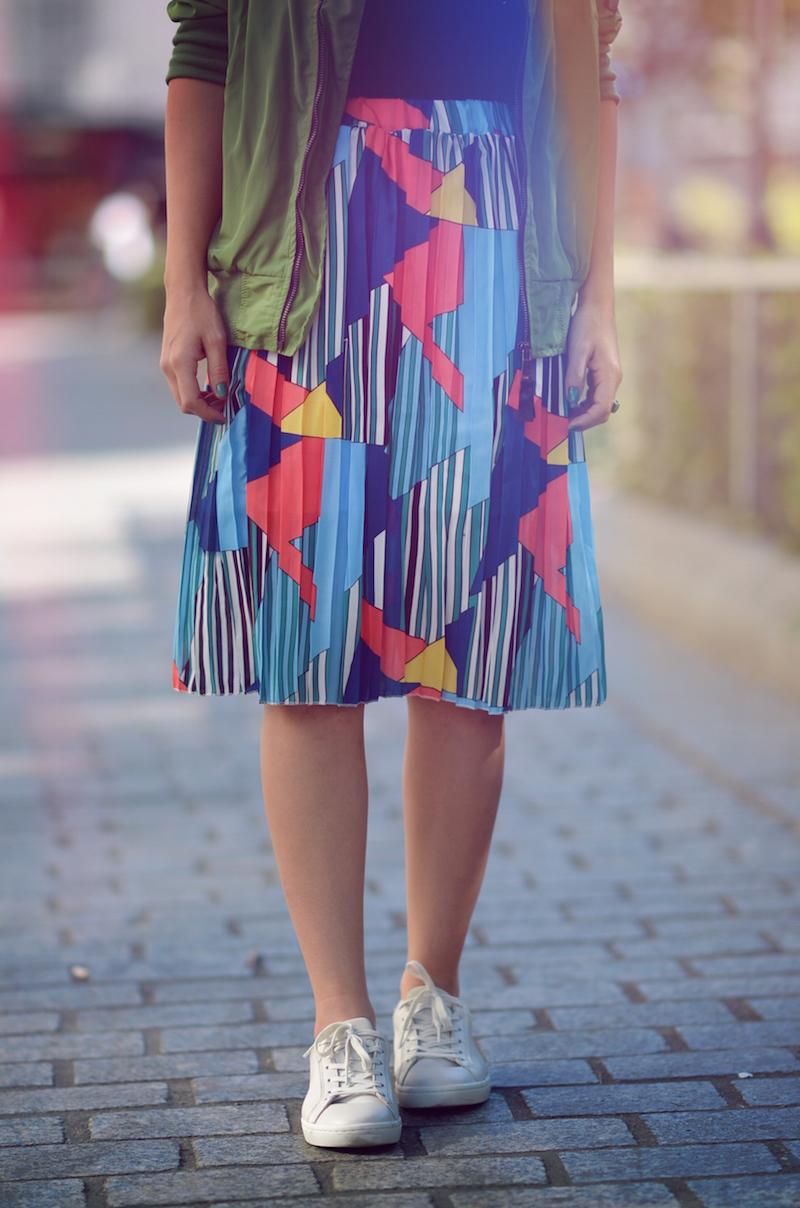 jupe colorée