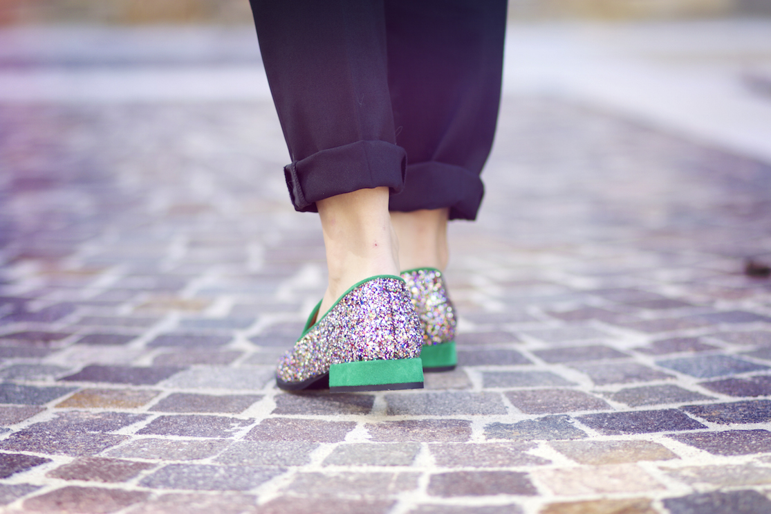 mocassins paillettes