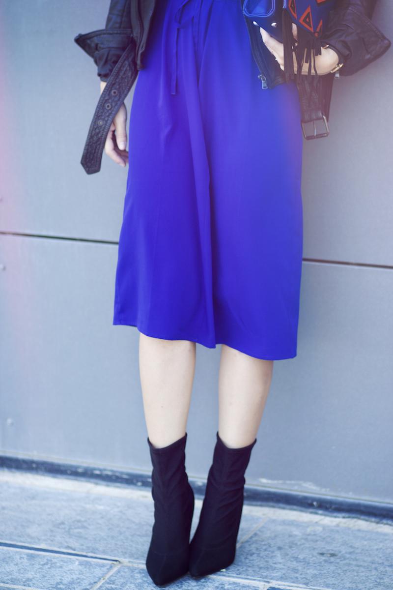 robe bleue kiabi