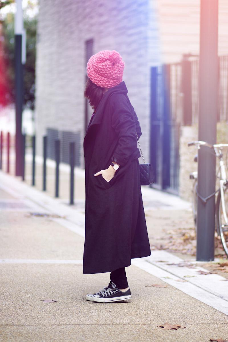 long manteau noir balsamik
