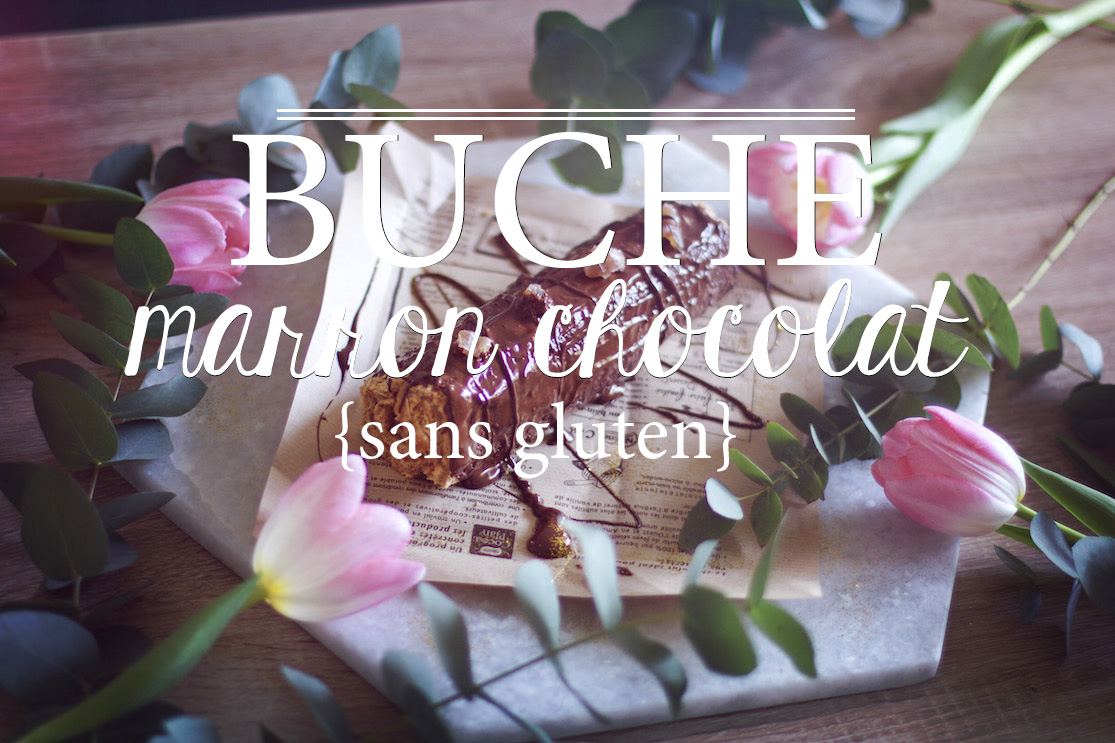 Bûche marron chocolat sans gluten