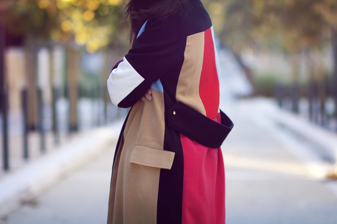 manteau coloré choies