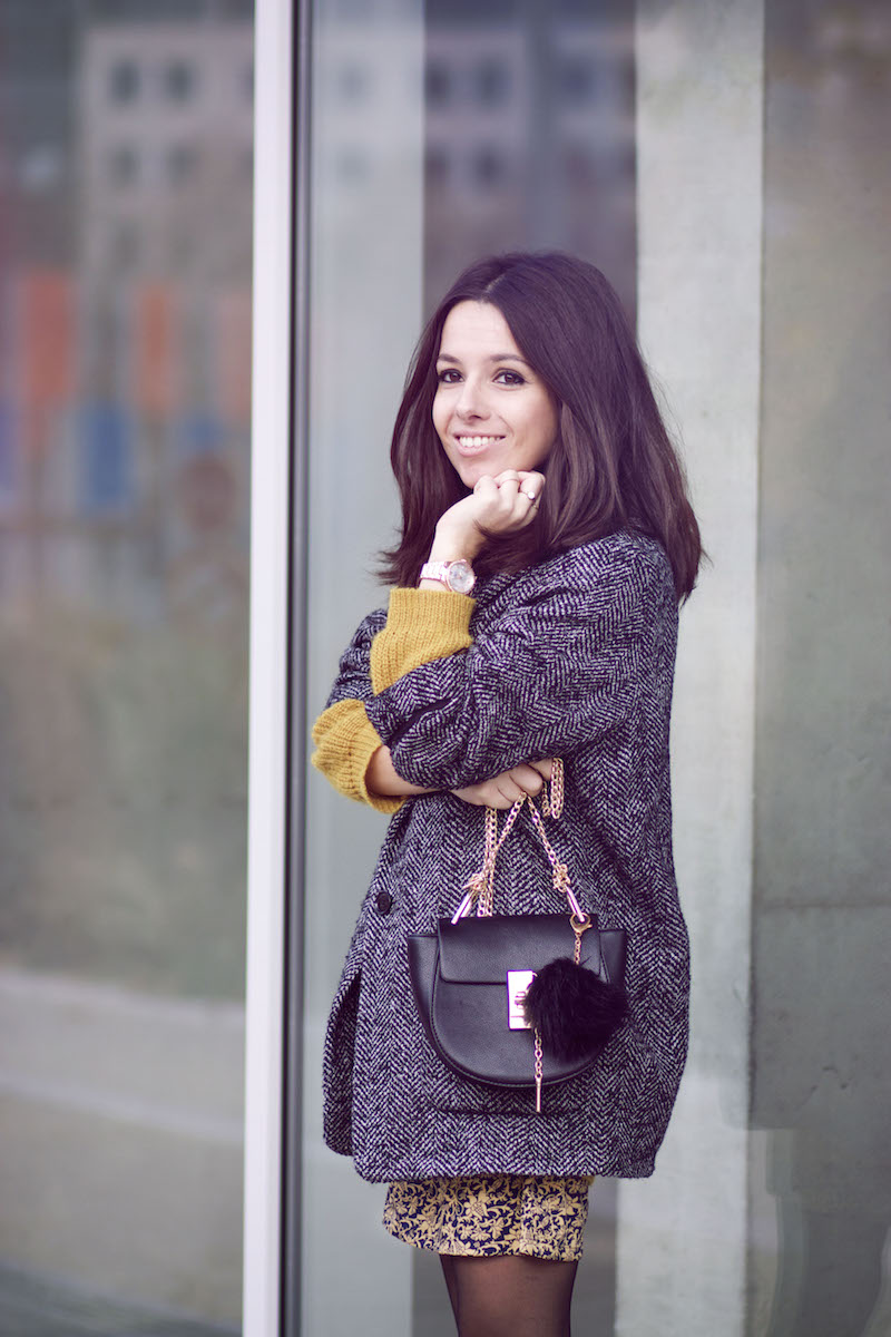 manteau gris blog mode