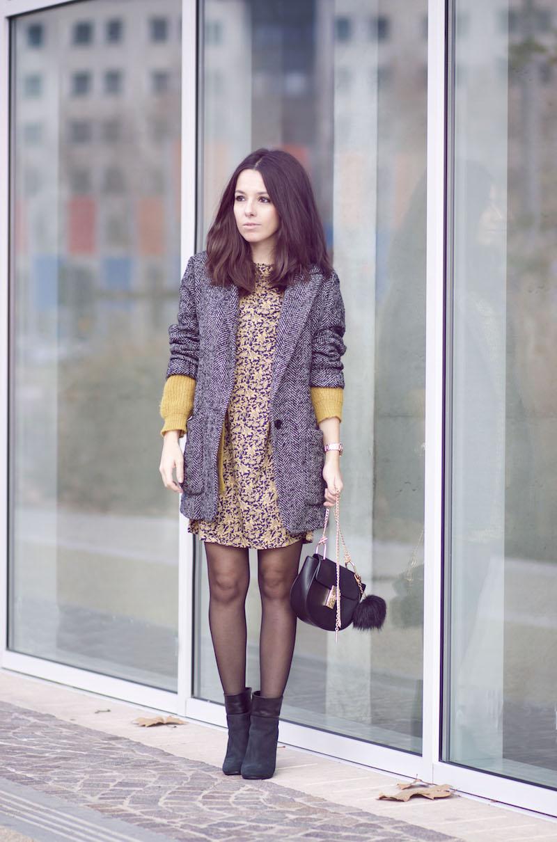 robe moutarde blog mode