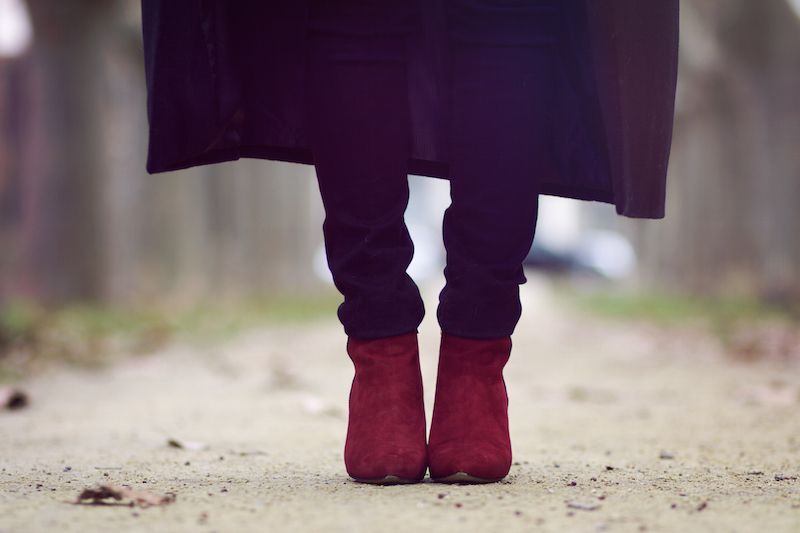 blog mode bottines bordeaux