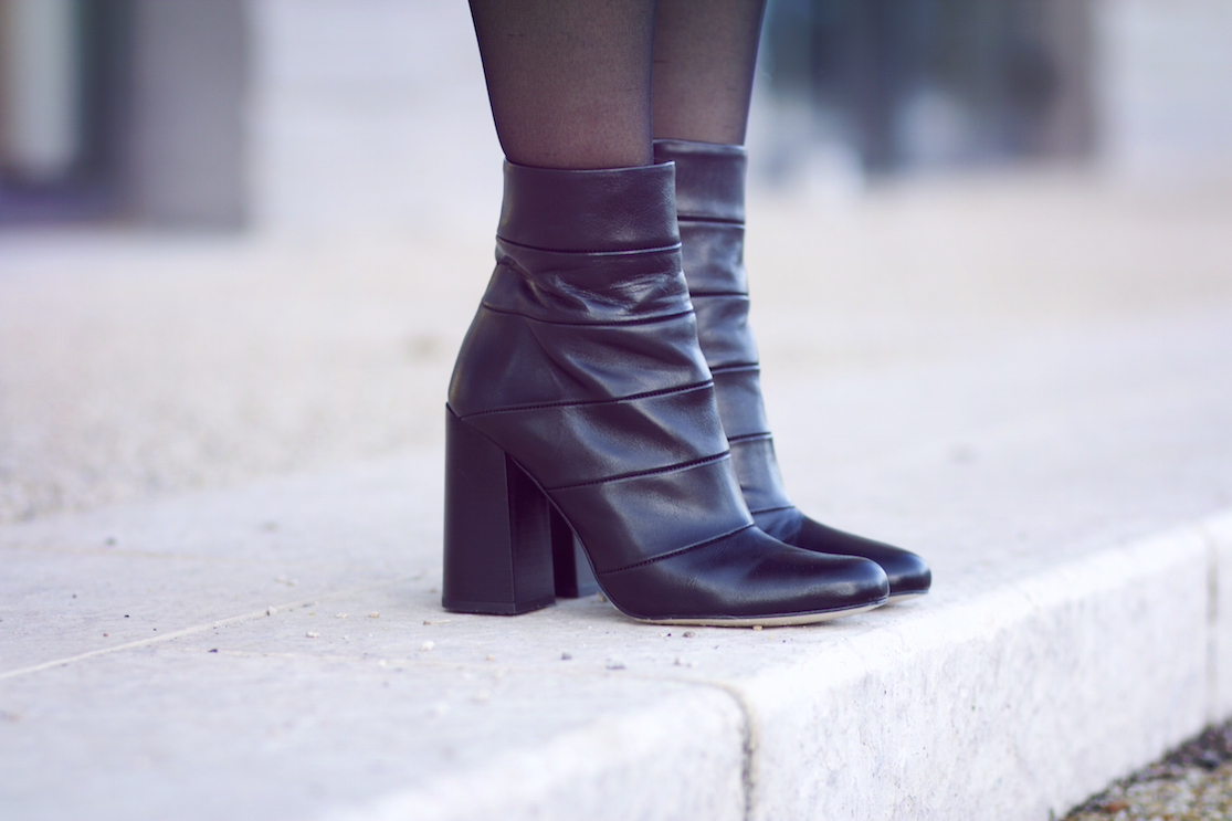 bottines noires zara blog mode