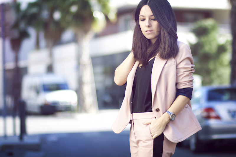 blog mode blazer rose