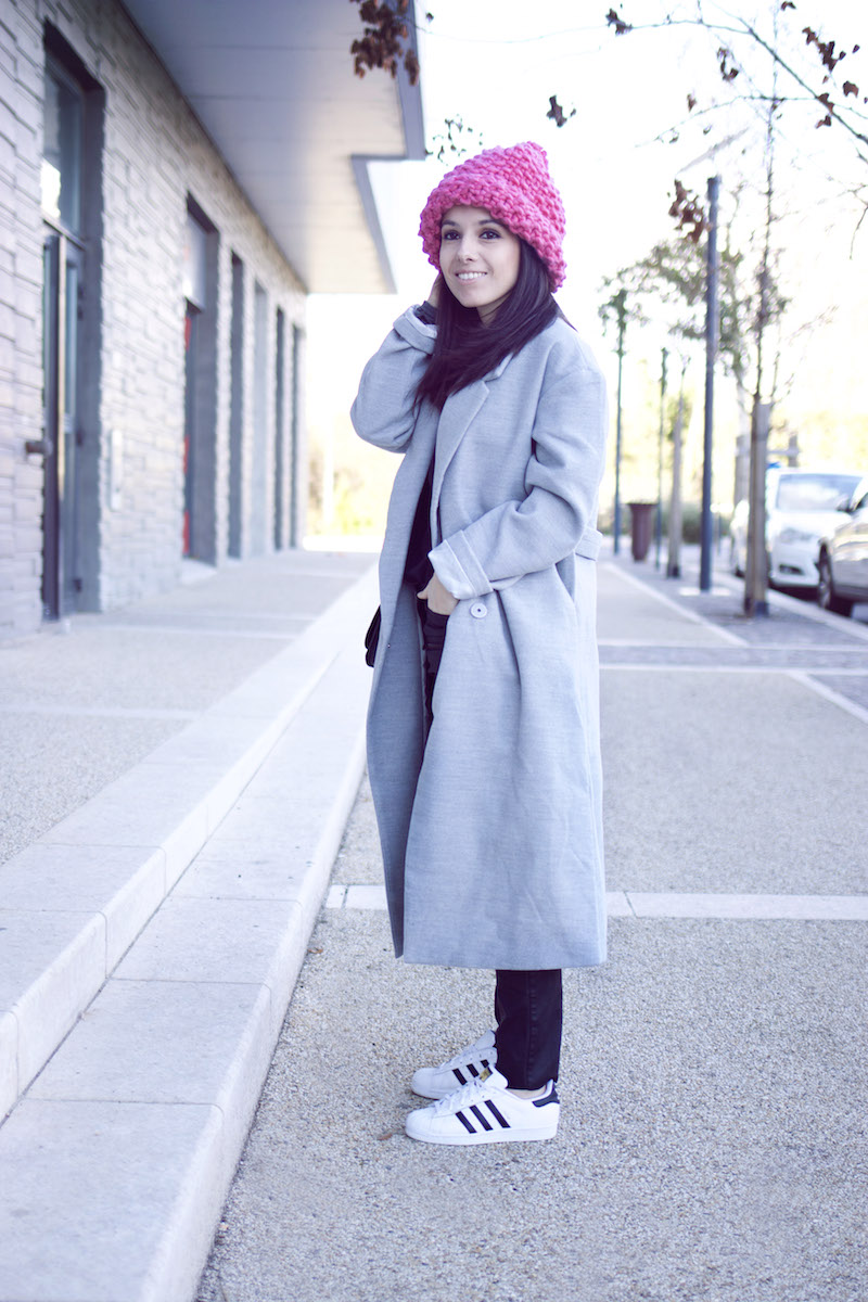 blog mode manteau gris Shein