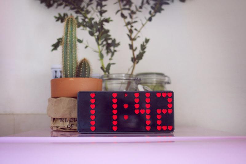 horloge coeurs