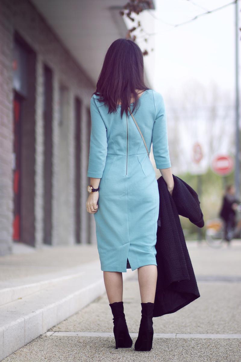robe boden, turquoise blog mode