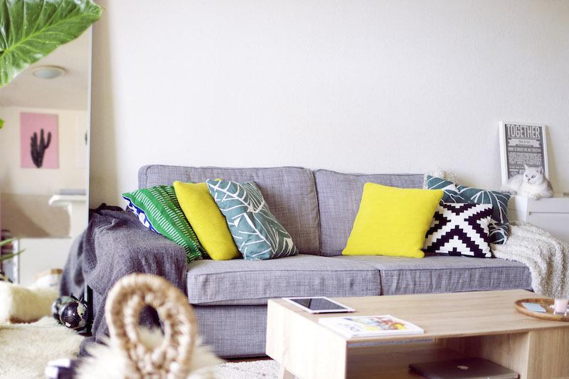 salon canapé gris