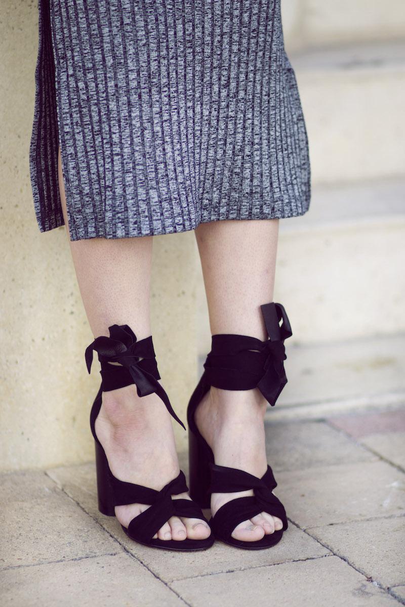 sandales talons lacées noeuds blog mode