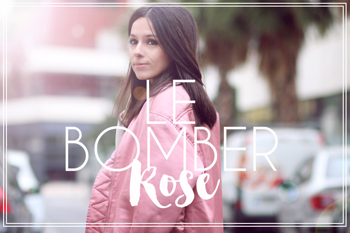Le bomber rose